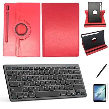 Kit Capa/Teclado/Can/Pel Galaxy Tab S6 T860/T865 10.5 Vermelho
