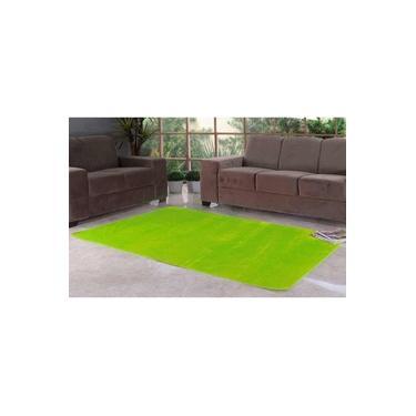 Tapete Liso para Quarto e Sala Tecido de Pelúcia 70cm x 50cm - Verde Claro