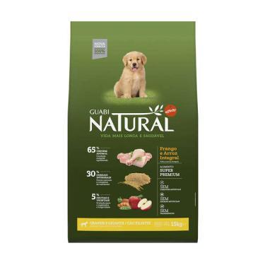 Ração Affinity Guabi Natural Frango e Arroz Integral para Cães Filhotes Raças Grande e Gigante - 15 Kg