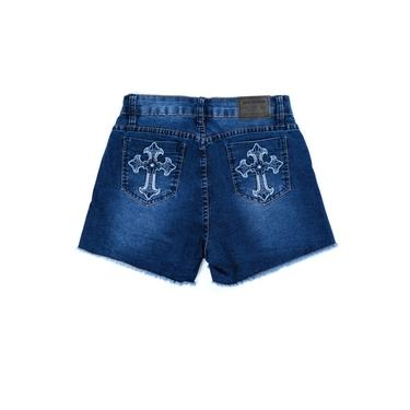 Short Feminino Bordado De Cruz Rodeio