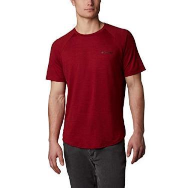 Camiseta Columbia Tech Trail II Crew - Vermelha-G