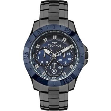 Relógio Masculino Technos Skymaster 6p79be 4c - Grafite Azul 1f1e6f3e4e1ce
