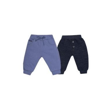Calça Malha Vintage Azul e Marinho