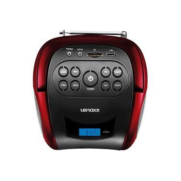 Som Portátil Boombox Lenoxx BD150 Rádio FM Função MP3 Conexão USB e Bluetooth 4W RMS