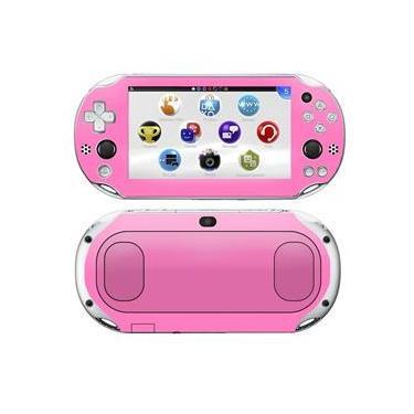 Kit Skin Adesivo Protetor PS VITA Playstation 2000 Slim (Rosa)