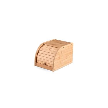 Imagem de Porta Pão Multiuso De Bambu Com Tampa Para Cozinha