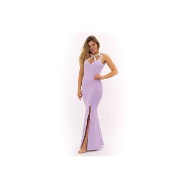 Vestido Miss Misses detalhe pérola Lilás15635