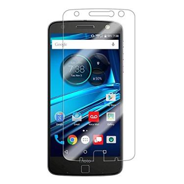 [2 pacotes] Protetor de tela para Moto Z Droid, vidro temperado transparente, protetor de tela resistente a arranhões para Motorola Moto Z, Moto Z Droid de 5,5 polegadas [não serve para Moto Z Play/Moto Z Force]