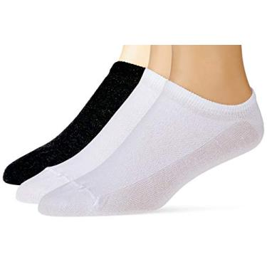 Imagem de Kit 3 meias cano curto esportiva, Trifil, Adulto Unissex, Branco / Branco/ Mescla, 39-43
