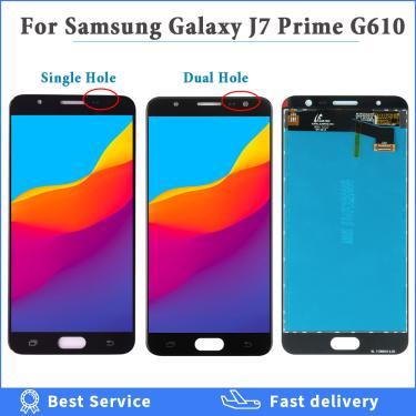 Tela lcd original para samsung galaxy j7 prime, tela sm-g610, g610f, g610m, g610, display de lcd