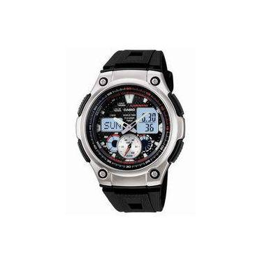 67687fe5575 Relógio Masculino Anadigi Casio Aq-190W-1AVDF - Preto