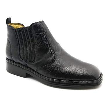 Imagem de Bota Masculina 1000 em Couro Floater Preto Doctor Shoes-Preto-37