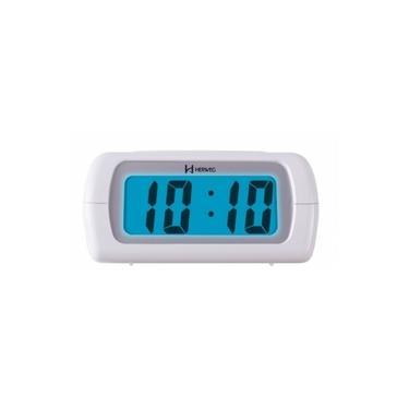 Imagem de Relógio Despertador Digital Herweg 2981 021 Branco