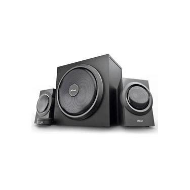Caixa de Som com Subwoofer Speaker Set Yuri 2.1 120W com Fio Som Potente Powerful Bass Trust