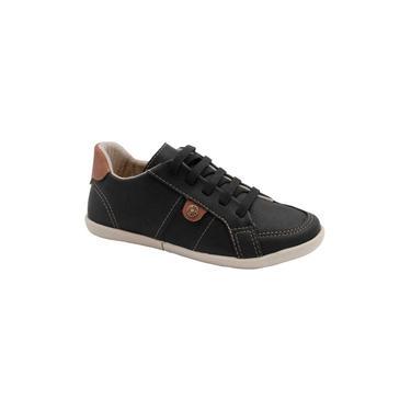 Sapato Infantil Klin Flyer 166 Preto/Caramelo