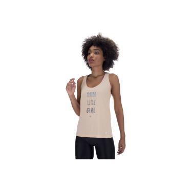 Camiseta Regata Vestem Run Lycra Nude - Feminina Vestem Feminino