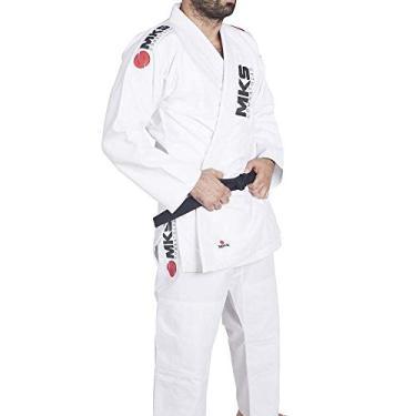 Kimono Jui Jitsu Mks Combat Branco A3