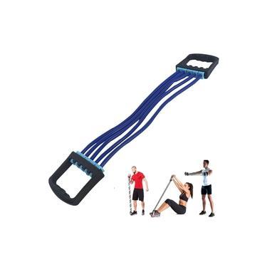 Extensor Exercício 5 Vias Elástico Níveis Ajustáveis 5 Tensões Peito Ombros Glúteos