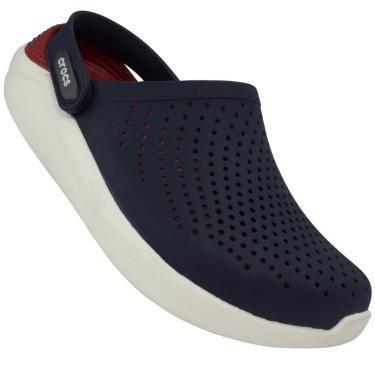 Sandália Crocs Literide Clog Marinho/Vermelho Azul  masculino