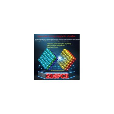 Imagem de 216 pcs 5mm Bola Magnética Puzzle de Puzzle Contas Magnéticas Criativo Descompressão Cor Bola Magnética Presente de Feriado