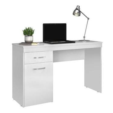 Escrivaninha Vitória Branco Brilho - Demóbile - Demobile