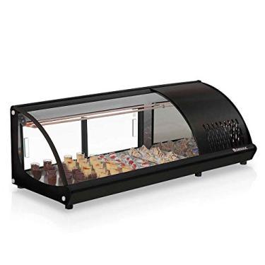 Vitrine refrigerada para sushi black - gvrb-120pr - gelopar - 220V
