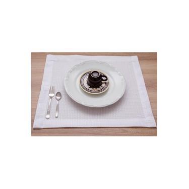 Imagem de Jogo Americano 8 Peças Em Piquet Branco Decoração Jantar