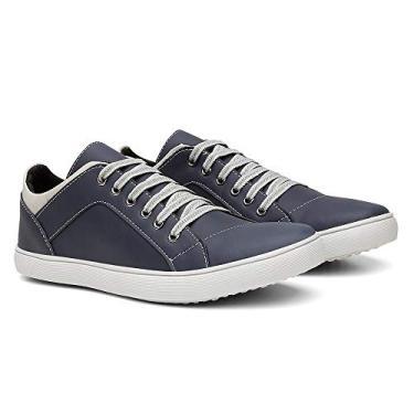 Imagem de Sapatênis Casual Masculino Conforto Leve Gugi Calçados Dia a Dia Cor:Azul; Tamanho:41