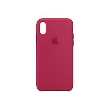 Capa para iPhone X em Silicone - Vermelha
