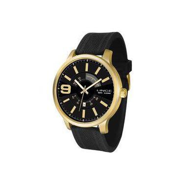 ddb96db3bd4 Relógio Lince Masculino Ref  Mrph055s P2px Casual Dourado