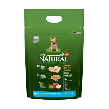 Ração Guabi Natural Cães Filhotes Raças Pequenas Frango e Arroz 1 Kg