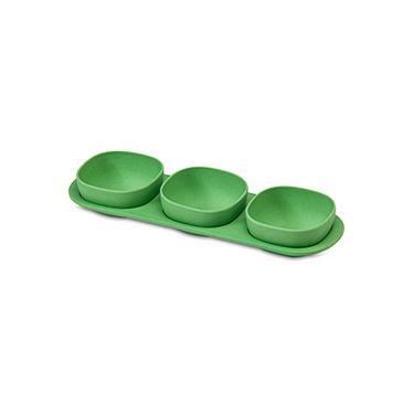 Imagem de Petisqueira em Fibra de Bambu Verde 3 Peças - La Cuisine