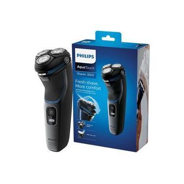 Philips Shaver 3100 Barbeador Elétrico AquaTouch Seco e Molhado Bivolt