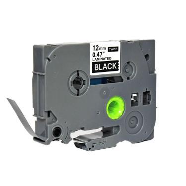 Fita para Rotulador Eletrônico 12mm x 8m Preto/Branco Marca X-Full Referência TZ-335 TZc-335 TZe-335