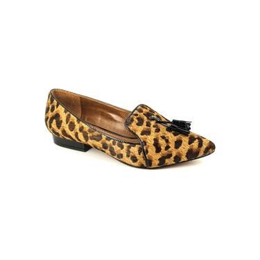 Sapatilha Carrano Loafer Em Couro Pelo Leopardo 128205
