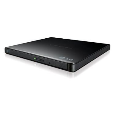 LG Electronics 8X USB 2.0 Unidade de gravador de DVD super ultrafina portátil +/-RW disco externo com suporte M-DISC (preto) GP65NB60