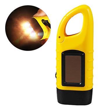 Tocha, Romacci Lanterna manual recarregável com manivela solar LED Lanterna tocha de emergência dínamo com clipe para acampamento ao ar livre, mochila de escalada, caminhada