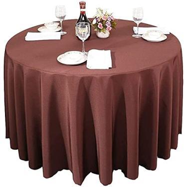 Imagem de Toalhas de mesa feitas à mão para cozinha simples toalha de casa toalha de mesa redonda impermeável de poliéster toalha de mesa de chuveiro nupcial circular - sólida toalha de mesa de jantar macio p