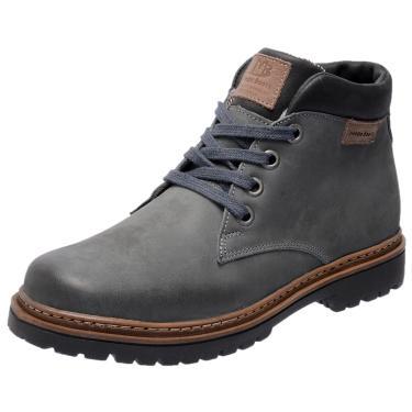 Bota Coturno em Couro Mega Boots 6018 Cinza  masculino