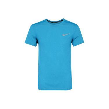 faadbfe566 Camiseta Nike Dry Cool Miler Top SS - Masculina - AZUL Nike