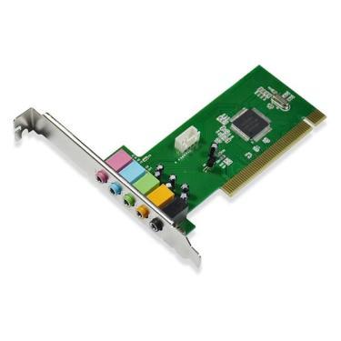 Placa de Som Multilaser com Barramento PCI de 32 Bits e Saída de Áudio 5.1 - GA141 Ga141