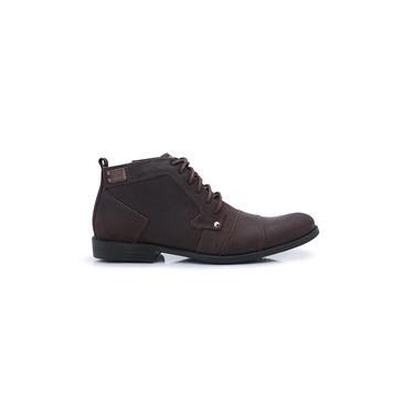 Sapato Casual Cano Baixo Sem Ziper Café Bergally