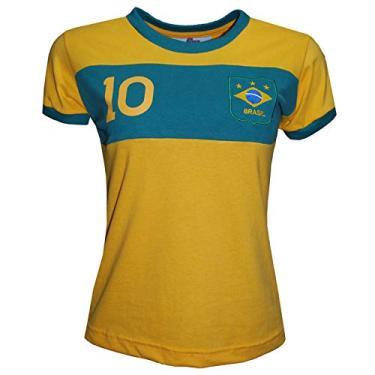 Camisa Liga Retrô Brasil Faixa Feminino