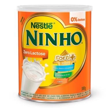 Imagem de Composto Lácteo Ninho Forti+ Zero Lactose com 380g 380g