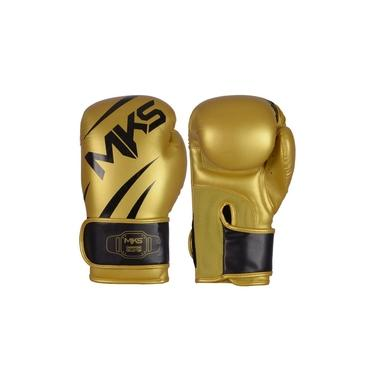 Kit Luva Mks Champions V3 Dourado/preto Bandagem 2,55m 12 Oz