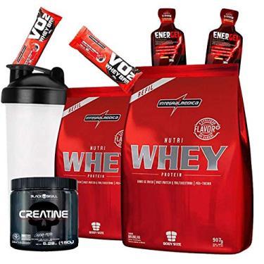 Whey Protein IntegralMedica Isolado + Termogênico Importado + Squeeze. - Chocolate