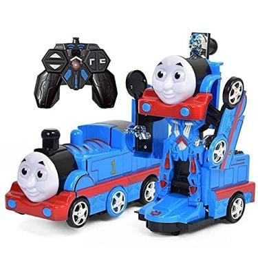 Imagem de Brinquedo Transformer Super Robô Trem Controle Remoto Robô de Controle Remoto Robô de Controle Remoto barato