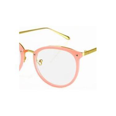 fdf9474575ac5 Armação oculos de grau retrô feminino geek rose lançamento