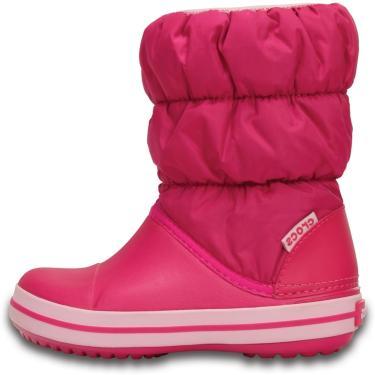 Bota Crocs Winter Puff Boot Kids Rosa  menina