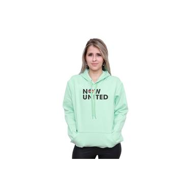 Moletom Now United Feminino e masculino Blusão Canguru Music Verde Neon